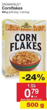 Oferta de Cereales Corn Flakes Crownfield por 0.8€