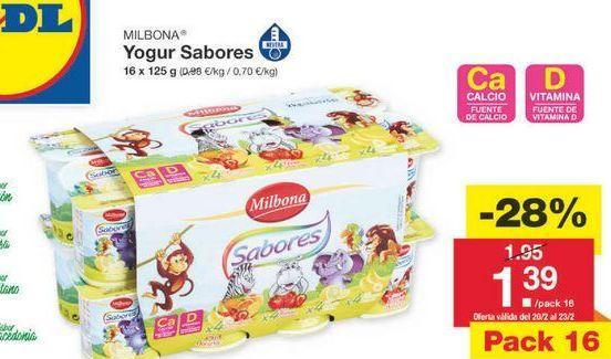 Oferta de Yogur infantil Milbona por 1.4€