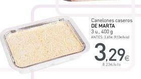 Oferta de Canelones de marta por 3.29€