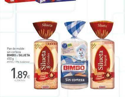 Oferta de Pan de molde Bimbo por 1.89€