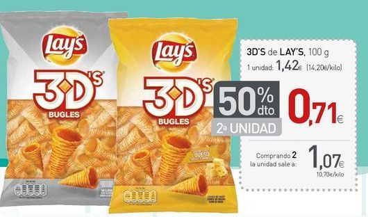 Oferta de Snacks Lay's por 1.06€
