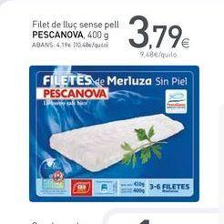 Oferta de Filetes de merluza Pescanova por 3.79€