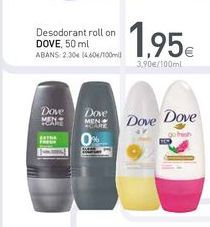 Oferta de Desodorante roll on Dove por 1.95€