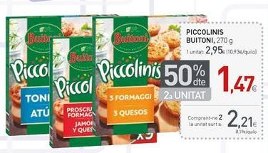 Oferta de Piccolinis Buitoni por 2.21€