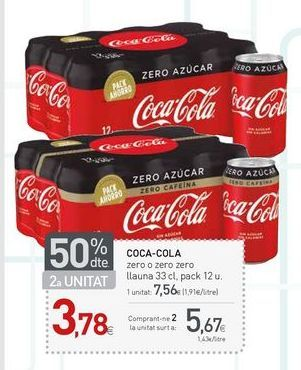 Oferta de Refresco de cola Coca-Cola por 5.67€