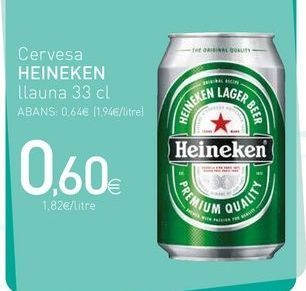 Oferta de Cerveza Heineken por 0.6€