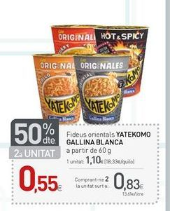 Oferta de Fideos orientales Yatekomo por 0.83€