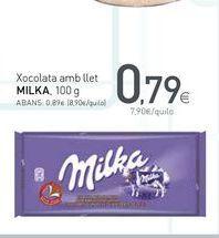 Oferta de Chocolate con leche Milka por 0.79€