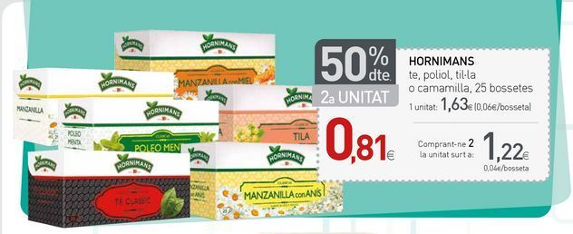 Oferta de Té Hornimans por 1.63€