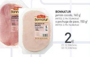 Oferta de Jamón cocido Bonnatur por 2€