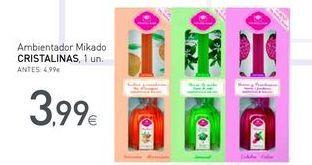 Oferta de Ambientadores cristalinas por 3.99€