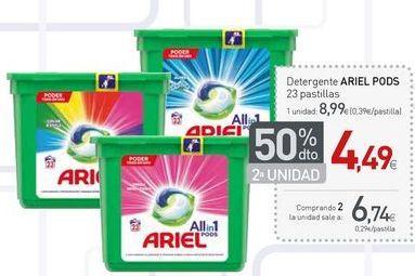 Oferta de Detergente en cápsulas Ariel por 6.74€