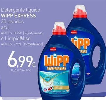 Oferta de Detergente líquido WiPP Express por 6.99€