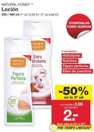 Oferta de Crema corporal Natural Honey por 2.99€