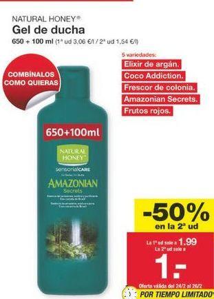 Oferta de Gel Natural Honey por 1.49€