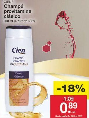 Oferta de Champú Cien por 0.89€