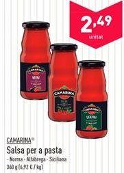Oferta de Salsas para pasta Camarina  por 2.49€