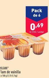 Oferta de Flan de vainilla Milsani por 0.69€