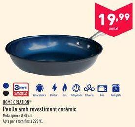 Oferta de Sartén con revestimiento cerámico Home Creation  por 19.99€