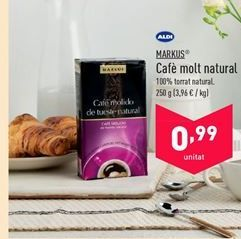 Oferta de Café molido natural MARKUS por 0.99€