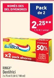 Oferta de Dentífrico Binaca por 2.25€