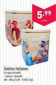 Oferta de Galletas italianas  por 5.99€