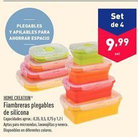 Oferta de Fiambrera plegables de silicona Home Cretion  por 9.99€
