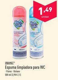 Oferta de Espuma limpiadora para WC Unamat  por 1.49€