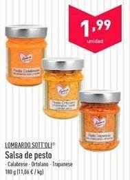 Oferta de Salsa de pesto Lombardo Sott'oli  por 1.99€