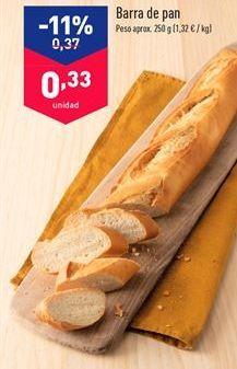 Oferta de Barra de pan por 0.33€