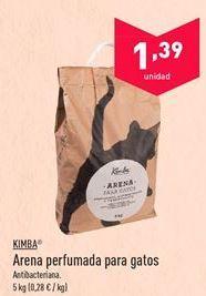 Oferta de Arena perfumada para gatos KIMBA por 1.39€