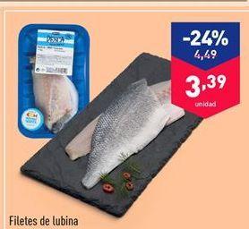 Oferta de Filetes de lubina por 3.39€