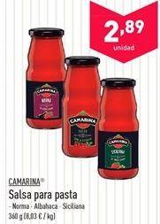 Oferta de Salsas para pasta Camarina  por 2.89€