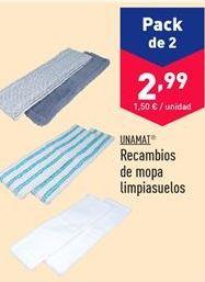 Oferta de Recambios de mopa limpiasuelos  por 2.99€