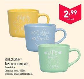 Oferta de Taza con mensaje Home Creation  por 2.99€
