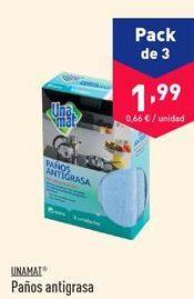 Oferta de Paños antigrasa Unamat  por 1.99€