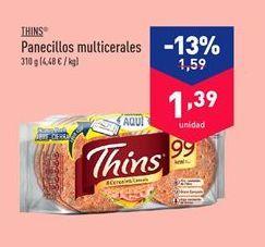 Oferta de Panecillos multicereales THINS por 1.39€