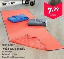 Oferta de Toalla para gimnasia Active Touch  por 7.99€