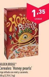 Oferta de Cereales Honey pearls GOLDEN BRIDGE por 1.35€