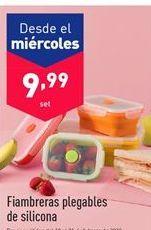 Oferta de Fiambrera plegables de silicona por 9.99€