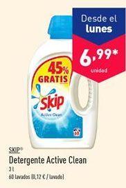 Oferta de Detergente Active Clean Skip  por 6.99€