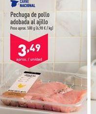 Oferta de Pechuga de pollo adobado al ajillo  por 3.49€