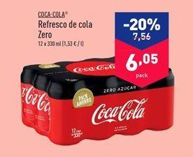 Oferta de Refresco de cola Zero COCA COLA por 6.05€