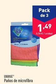 Oferta de Paño de microfibra Unamat por 1.49€