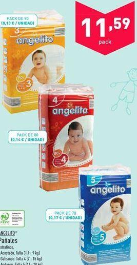 Oferta de Pañales angelito por 11.59€