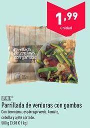 Oferta de Parrillada de verduras con gambas FLETE por 1.99€