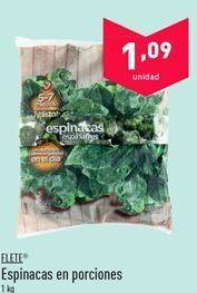 Oferta de Espinacas en porciones FLETE por 1.09€
