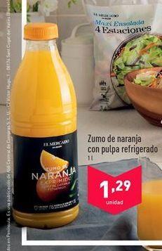 Oferta de Zumo de naranja con pulpa refrigerado  por 1.29€