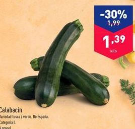 Oferta de Calabacín por 1.39€