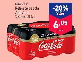 Oferta de Refresco de cola Zero Zero COCA COLA por 6.05€